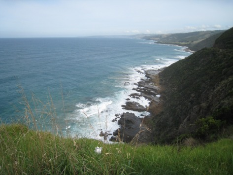 The coastline entertains with views like this for over 100 miles ... or ... over 161 kilometers.