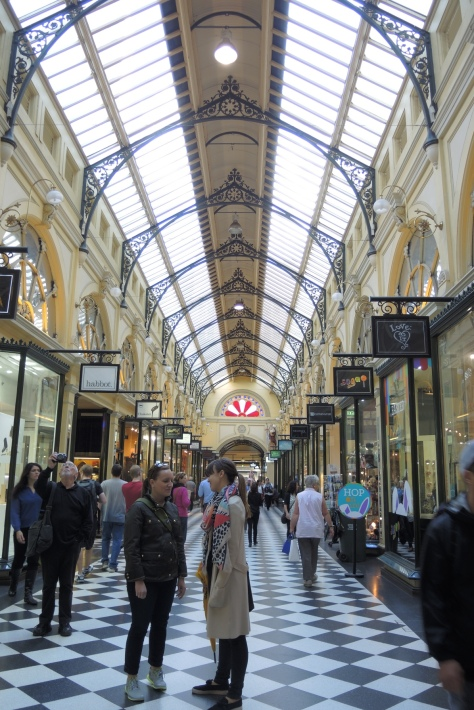 Guide Danae (right) in one shopping arcade