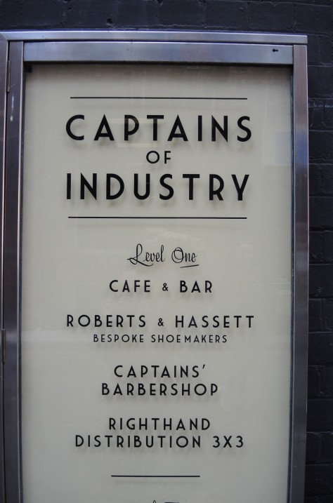 Brekky 1-of-2 locale is the Captains of Industry cafe, tucked away.