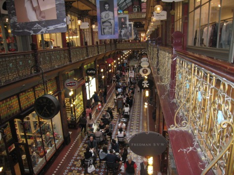 Everything is grand at the Strand, an old-style shopping arcade with tile floors, glistening iron railings and specialty shops that line three levels.