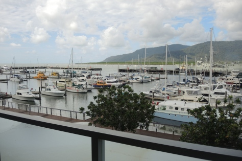 Our room in Cairns had a nice view, looking out onto the marina.