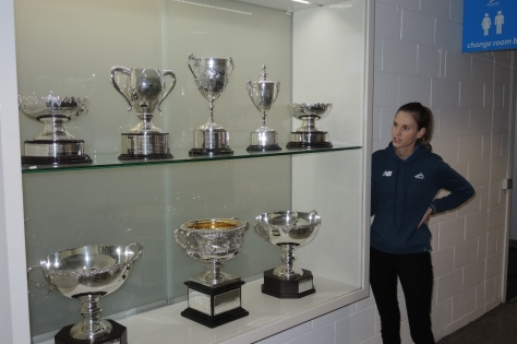 Guide Ashley Shows Wonderful Tennis Trophies and Uninspiring Case