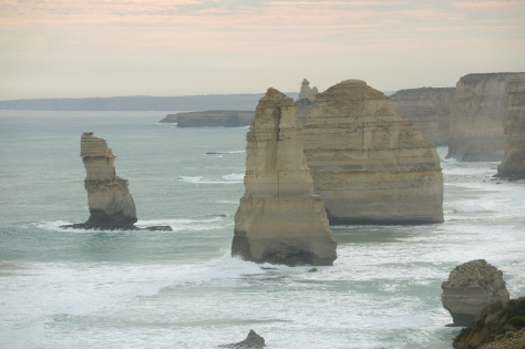 "Captivating limestone towers formed millions of years ago when the ground eroded around them, leaving a short stretch where the largest set are known as the ""Twelve Apostles."""