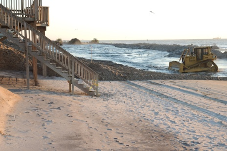 Section of beach nourishment