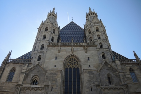 St. Stephens cathedral, Vienna, frontal view.