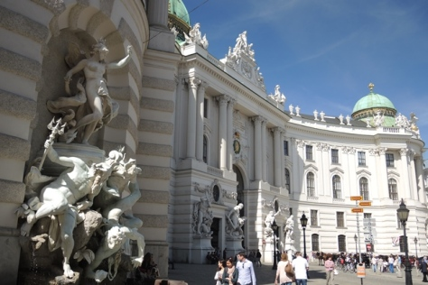The Hofburg Palace complex dazzles at St. Michael's square