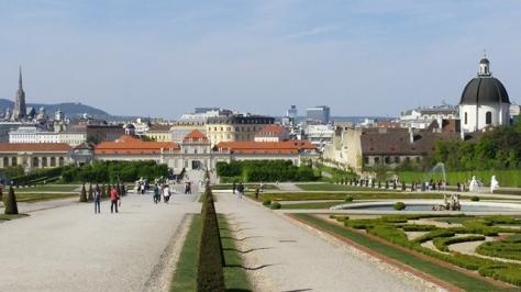 Belvedere Palace gardens.