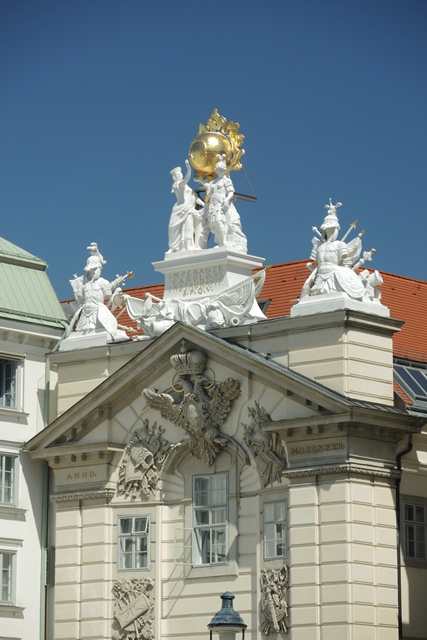 Random sample of Vienna architecture glitters with a top of gold.