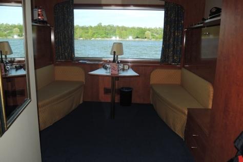 Cabin on the MS River Rhapsody.