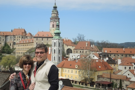 Betsy and Doug in Cesky Krumlov