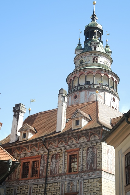 Tower of Cesky Krumlov castle