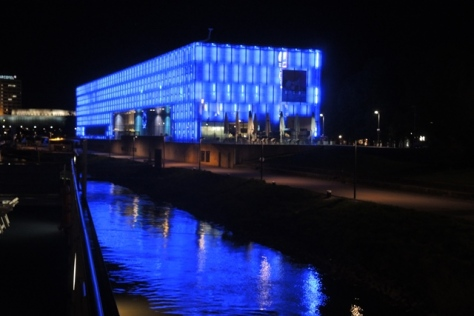 Linz, Austria, contemporary art museum