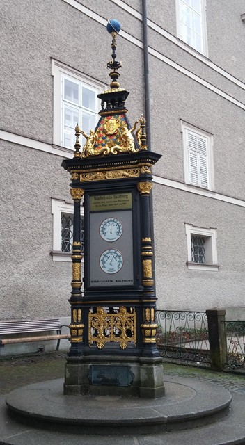 Weather station on the streets of Salzburg, AU