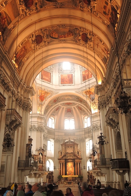 Inside the majestic Salzburg Cathedral