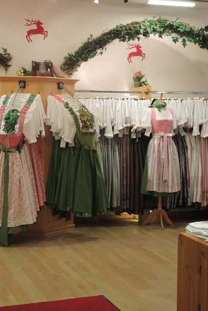 A shop for tradition Austrian dresses.