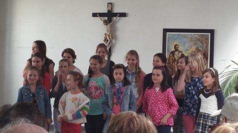 School children sing, Bratislava