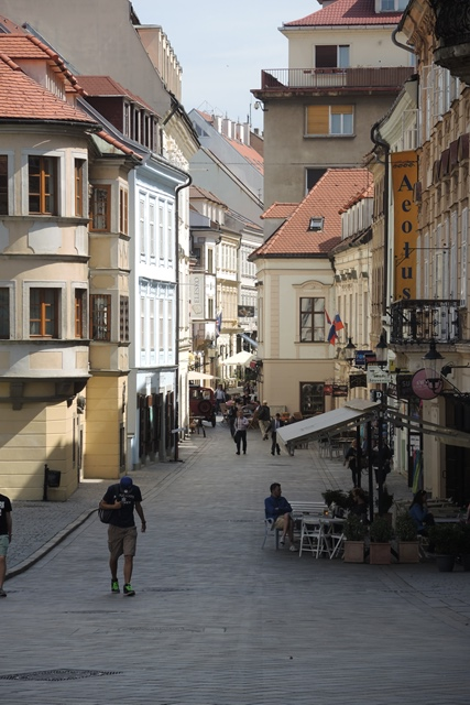 Narrow street scene, Bratislava