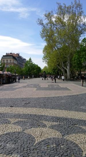 Wide street scene, Bratislava