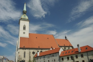 Outside St. Martin's Cathedral, Bratislava