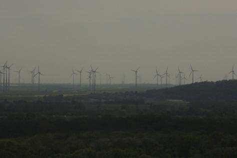 West of Bratislava loom giant, modern windmills