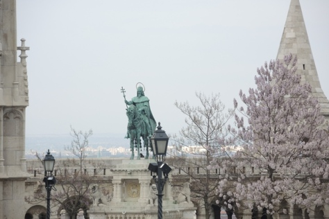 St. Stephen on a horse, Budapest