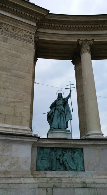 St. Stephen statue, Heroes Square, Budapest