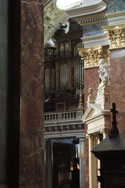 St. Stephen's organ pipes, Budapest