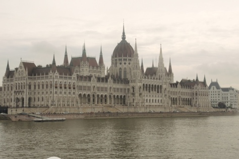 Parliament on a cloudy day, river side