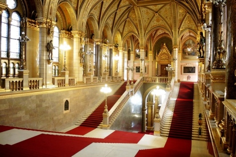 Grand Staircase of Budapest Parliament