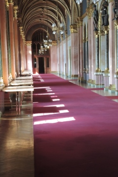 Regal hallway of the Budapest Parliament