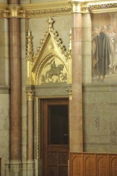 Doorway featuring King Matthias