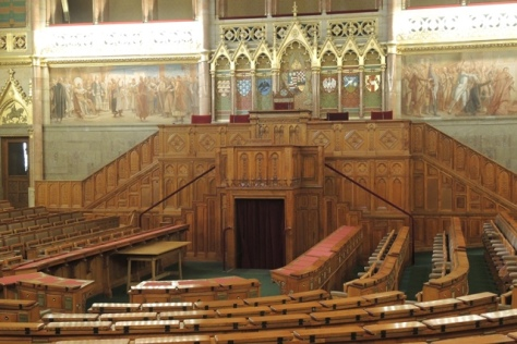 Meeting chambers in the Hungary Parliament