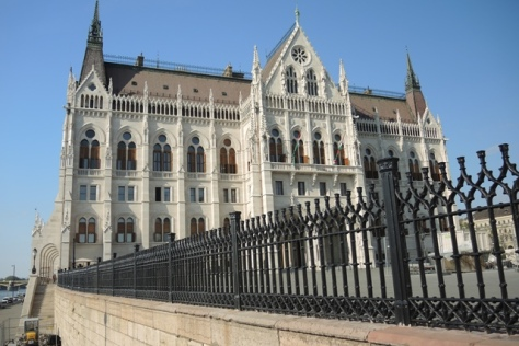 Side view of Hungarian Parliament