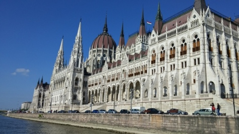 Dock view of Hungarian Parliament