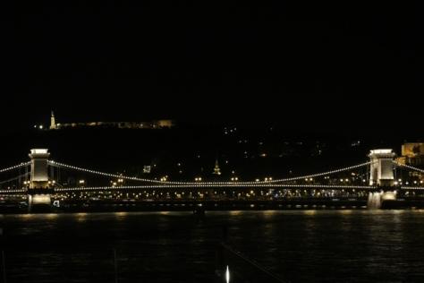 Chain Bridge after dark, Budapest