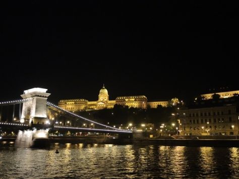 Royal Palace above Chain Bridge, Budapest