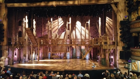 The Hamilton stage in Richard Rodgers Theatre