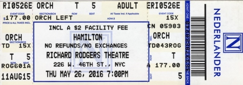 Ticket to Hamilton