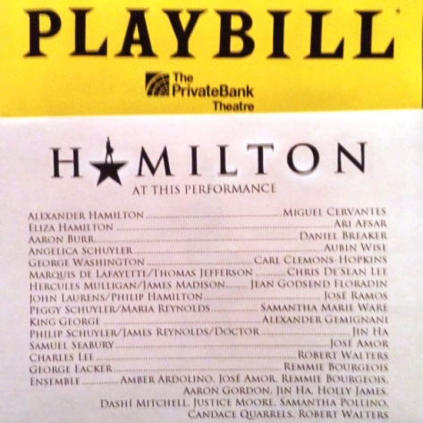 Hamilton Chicago Cast, April 25, 2017