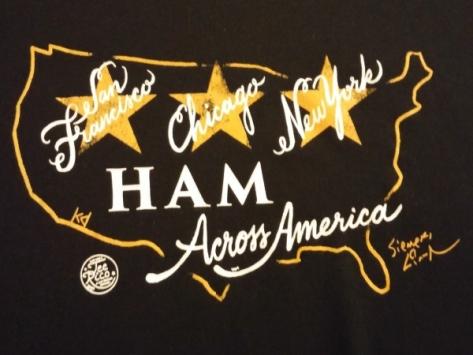 Hamilton Across America T-shirt logo by Lin-Manuel Miranda
