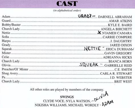 Cast of The Color Purple