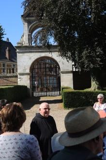 Brother Lucein at Saint Wandrille Abbey near Caudebec en Caux