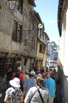 Narrow street in Honfleur