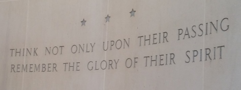 Engraving at American Cemetery Visitor's Center