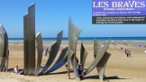 "Omaha Beach ""Les Braves"" monument"