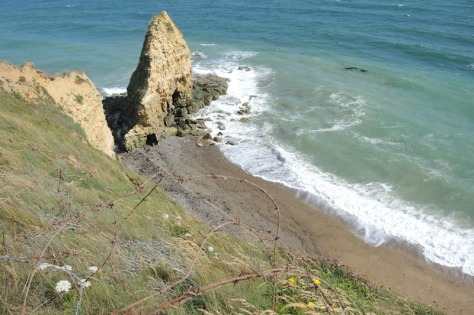 Pointe du Hoc cliff scaled by Army Rangers