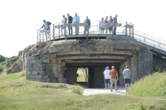 Nazi forces bunker defenses at Pointe du Hoc