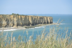 Utah Beach landing site is west from Pointe du Hoc