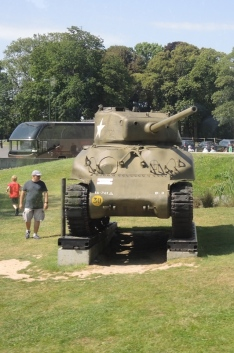 American tank at local Normandy museum