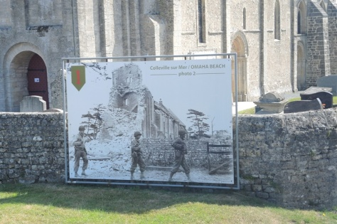 Normandy church restored from D-Day devistation